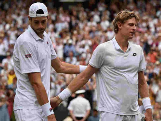 Wimbledon 2018: Kevin Anderson beats John Isner in six hours and 36 minutes to reach into final | विंबलडन 2018: केविन एंडरसन का कमाल, इस्नर को 6 घंटे 36 मिनट चले सेमीफाइनल में हरा रचा इतिहास
