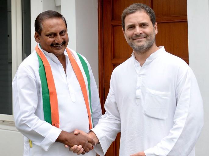 Delhi: Former CM of united Andhra Pradesh N Kiran Kumar Reddy rejoins Congress | आंध्र प्रदेश के बागी पूर्व मुख्यमंत्री ने की कांग्रेस में 'घरवापसी', इस तरह पहुंचाएंगे राहुल गांधी को फायदा!