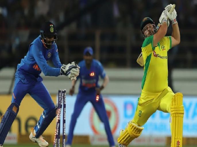 India vs Australia: KL Rahul brilliant stumping against Finch draws MS Dhoni comparison, Watch Video   IND vs AUS: केएल राहुल ने पलक झपकते ही बिखेरीं फिंच की गिल्लियां, फैंस ने की धोनी से तुलना, देखें वीडियो