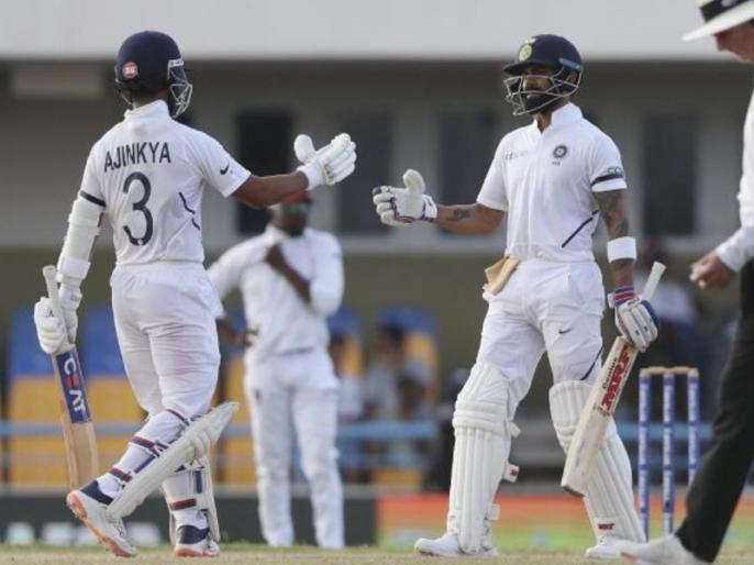 India vs West Indies: Virat Kohli, Ajinkya Rahane surpass Sachin Tendulkar, Sourav Ganguly partnership record | IND vs WI: विराट कोहली-अंजिक्य रहाणे की जोड़ी का कमाल, सचिन-गांगुली को पीछे छोड़ रचा नया इतिहास