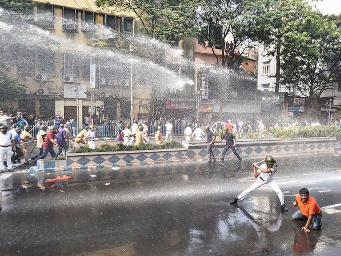 Over 60 BJP Workers Injured in Clash With Kolkata Police During Protest Against Spike in Dengue Cases   कोलकाता: भाजपा कार्यकर्ताओं और पुलिस के बीच झड़प, 35 नेता हिरासत में और 60 अस्पताल में, जानें किस मुद्दे पर हुआ विवाद