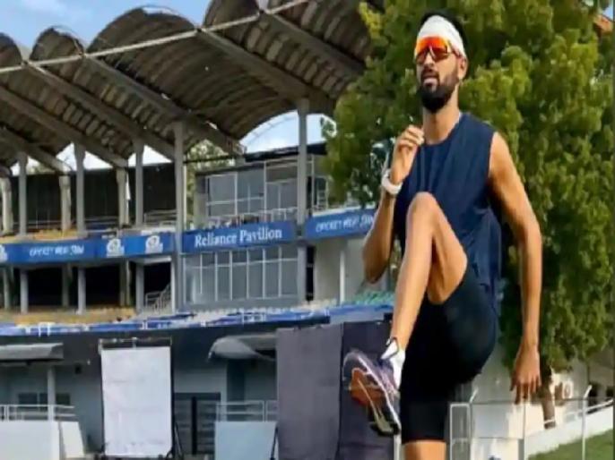 All rounder Krunal Pandya resumes outdoor training after 3 months | क्रुणाल पंड्या ने तीन महीने बाद शुरू की आउटडोर ट्रेनिंग, कहा, 'फिर यहां आकर अच्छा लग रहा है'