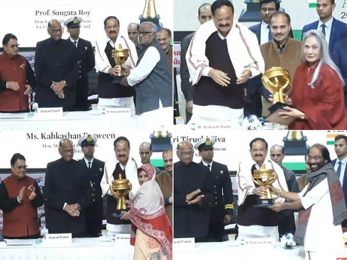 Lokmat Parliamentary Awards 2019 here is all list Mulayam and Manmohan Singh Life Time Achievement Award | Lokmat Parliamentary Awards 2019: मुलायम और मनमोहन सिंह को लाइफ टाइम अचीवमेंट अवॉर्ड, जानें किस नेता को मिला कौन सा खिताब