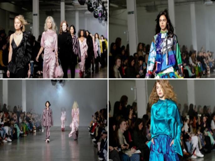 Saree splendour marks India Day at London Fashion Week   London Fashion Week के 'इंडिया डे' में भारतीय साड़ियों का जलवा