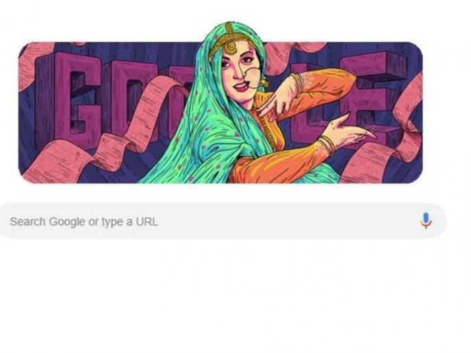 google celebrates madhubala birthday on valentine day with this colourful doodle | 86वें जन्मदिन पर गूगल ने महान अदाकारा मधुबाला के नाम किया डूडल, दी 'अनारकली' को श्रद्धांजलि