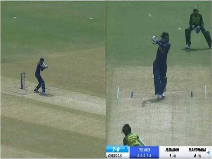 Smriti Mandhana hit 80 runs just 64 ball help India Women won by 9 wkts | स्मृति मंधाना का विस्फोटक अंदाज, पहले ओवर में ही जड़ दिए लगातार दो छक्के, 13 गेंदों में 58 रन जड़ टीम को दिला दी जीत