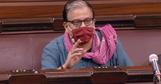 RJD MP Manoj Jha who contested against Harivansh for Rajya Sabha Deputy Chairman post | उपसभापति चुनावः तू मोहब्बत से कोई चाल तो चल, हार जाने का हौसला है मुझमें,हारने के बादमनोज झा ने शेर पढ़ा