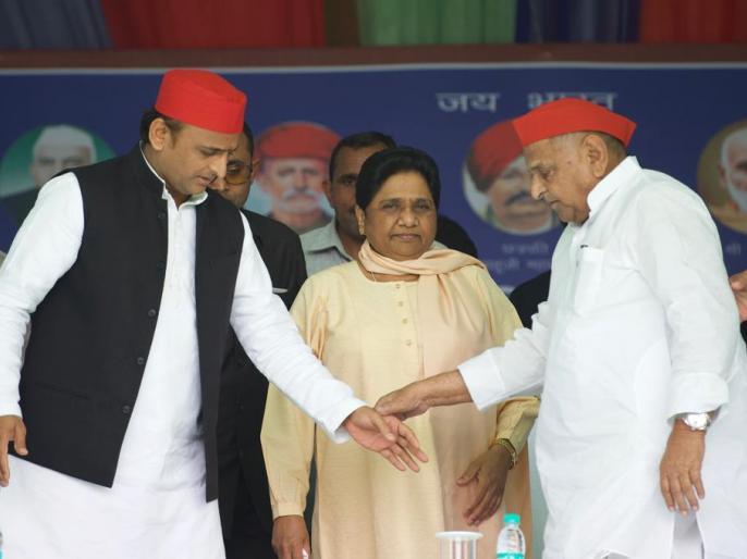 Mayawati recall guest-house-kand-lucknow in Mainpuri rally Mulayam Singh Yadav   महागठबंधन की रैली में मायावती को याद आया 'गेस्ट हाउस कांड', 25 सालों बाद मुलायम के साथ साझा किया मंच