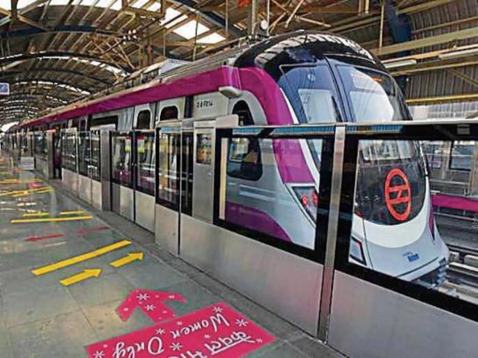 Delhi woman injured after her Saree gets stuck in metro gate | दिल्ली: चलती मेट्रो ट्रेन के दरवाजे में फंसी महिला की साड़ी, फिर ऐसे बची जान