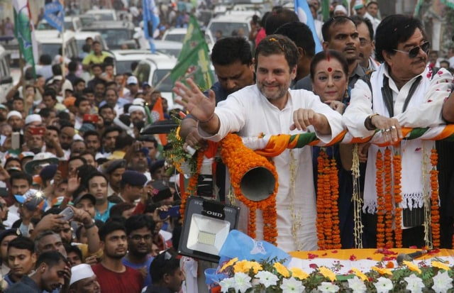 Bihar Lok Sabha Election 2019 Rahul gandhi rally in pataliputra patna-sahib for Shatrughan Sinha misa | पटना: राहुल गांधी का वादा, 2019 में दो बजट, एक आम और दूसरा किसान बजट