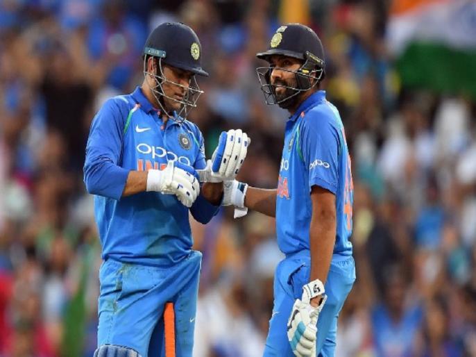 india vs australia rohit sharma differs with virat kohli on ms dhoni batting slot | धोनी के बैटिंग क्रम को लेकर कोहली से अलग है रोहित शर्मा की राय, प्रेस-कॉन्फ्रेंस में कही ये बड़ी बात