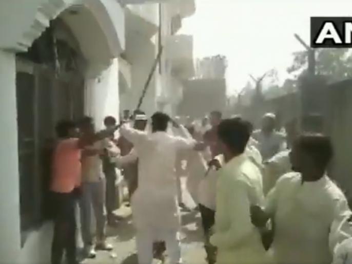 Lok Sabha Election 2019: Clashes broke out in Congress Nasimuddin Siddiqui Meeting in Muzaffarnagar | मुजफ्फरनगर: कांग्रेस उम्मीदवार की मीटिंग में झड़प, खाने के लिए चली लाठी