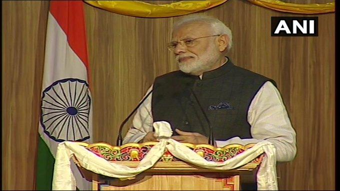 In Bhutan, PM Modi saying that India and Bhutan's culture shared, our relationship is very special | पीएम मोदी ने कहा-भारत और भूटान की संस्कृति साझा, हमारा रिश्ता बेहद खास