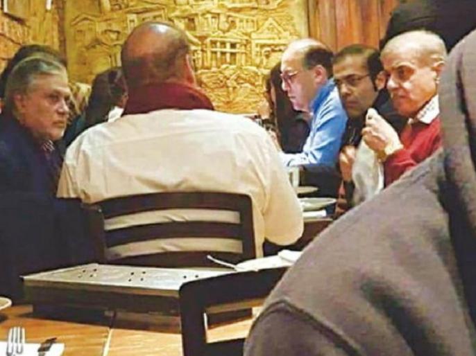 Nawaz Sharif in London restaurant Viral photo question over his 'critical' health   इलाज के लिए लंदन गए नवाज शरीफ की रेस्त्रां में बैठे तस्वीर वायरल, बीमारी को लेकर उठने लगे हैं सवाल