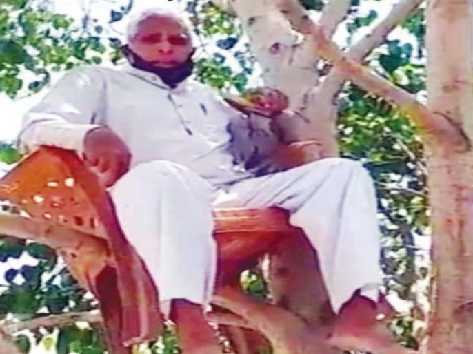 68 years old still no less passion after People who died with peepal tree | ऑक्सीजन की कमी से निपटने के लिए इस बुजुर्ग ने अपना अनोखा रास्ता, पीपल के पेड़ पर जमाया डेरा और फिर...