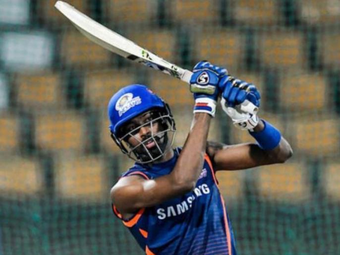 Hardik Pandya plays MS Dhoni helicopter shot, shares Video on twitter | IPL 2019: हार्दिक पंड्या ने खेला धोनी का चर्चित 'हेलिकॉप्टर शॉट', खुद शेयर किया वीडियो