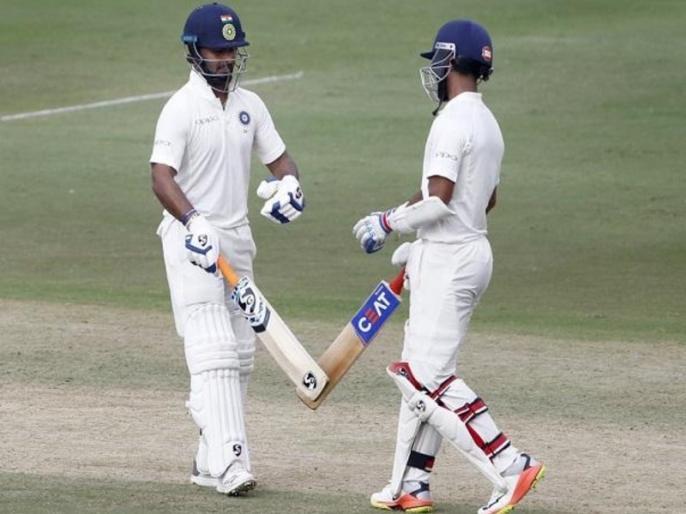 India vs West Indies: Shaw, Pant, rahane shines, as India made 308 for 4 on 2nd day of Hyderabad test | Ind vs WI: हैदराबाद टेस्ट के दूसरे दिन भारत ने विंडीज पर कसा शिकंजा, पृथ्वी शॉ, ऋषभ पंत-रहाणे चमके