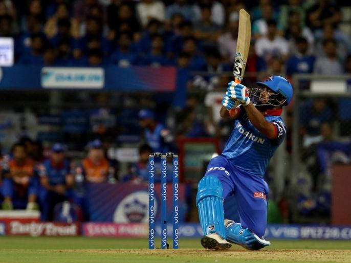 Ipl 2019 MI Vs DC: rishabh pant make 70 runs with boundaries | IPL 2019, MI vs DC: पंत का धमाका, दौड़कर बनाए सिर्फ 8, बाउंड्री से ठोक डाले 70 रन