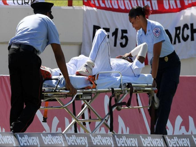 Windies vs England, 3rd Test: Keemo Paul suffer injuries during match | मैच के दौरान चोटिल हुए कीमो पॉल, स्ट्रेचर पर उठा ले जाया गया अस्पताल