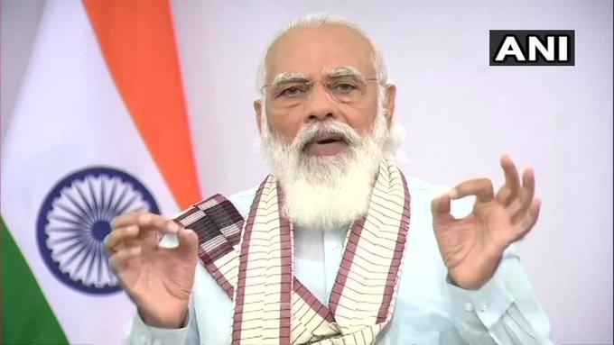 Prime Minister Narendra Modi addresses the nation covidrecovery rate country is good   प्रधानमंत्री मोदी बोले-थोड़ी सी लापरवाही हमारी खुशियों को कम कर सकती,एक-एक नागरिक तक पहुंचे कोरोना वैक्सीन