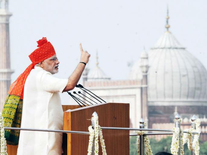 PM MODI says in ram leela maidan country will decide who became a prime minister in 2019 | पीएम मोदी ने जनता की विवेक पर छोड़ा 2019 का चुनाव, बोले- लोग तय करेंईमानदार'प्रधानसेवक' चाहिए या राजशाही?