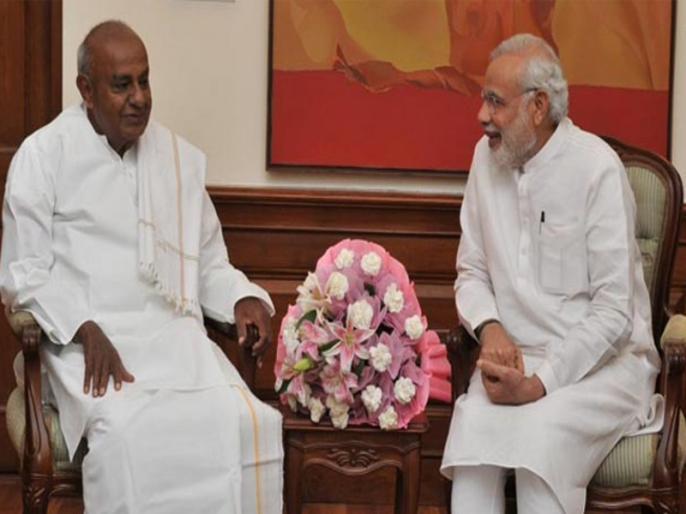 pm narendra modi greets hd deve gowda on his birthday karnataka assembly election 2018 | कर्नाटक में मचे घमासान के बीच PM मोदी ने दी एचडी देवगौड़ा को जन्मदिन की बधाई, ट्वीट में लिखी ये बात