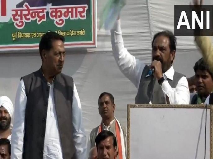 Priyanka Chopra Zindabad: Congress leader's blooper video goes viral Congress trolled | 'प्रियंका चोपड़ा जिंदाबाद', जब कांग्रेस नेता ने प्रियंका गांधी की जगह लगाए ये नारे, वायरल वीडियो के बाद पार्टी का बना मजाक