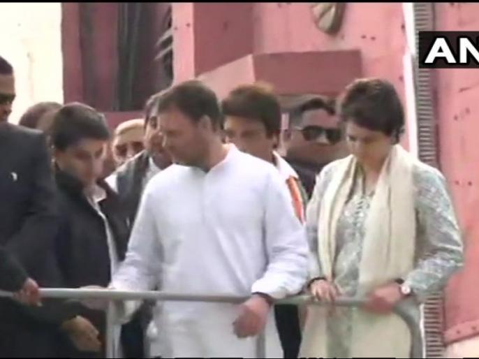 priyanka gandhi up mission rally in Uttar pradesh live updates, highlights, minute updates | प्रियंका गांधी के साथ राहुल का लखनऊ में रोड शो शुरू, सिंधिया-राज बब्बर सहित कई नेता चुनावी रथ पर सवार