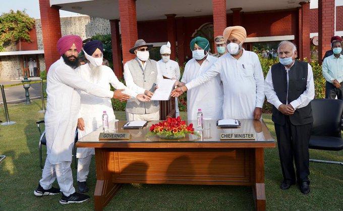 Farm Laws passedPunjab assemblyCM Captain Amarinder Singh bjp congress   कांग्रेस शासित राज्यों ने मोदी सरकार के किसान कानूनों के खिलाफ खोला मोर्चा