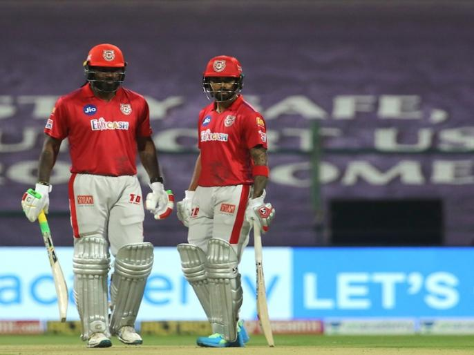 IPL 2020, Kings XI Punjab vs Rajasthan Royals: KL Rahul-Chris Gayle partnership   IPL 2020, KXIP vs RR: केएल राहुल-क्रिस गेल का तूफान, दूसरे विकेट के लिए 120 रन की साझेदारी