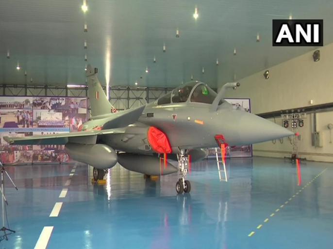 Rafale fighter: ALL Five fighter Rafale jets set to be formally inducted Indian Air Force   भारतीय वायुसेना में आज शामिल होगा राफेल, सर्वधर्म पूजा से फ्लाईपास्ट तक, अंबाला में होगा भव्य कार्यक्रम
