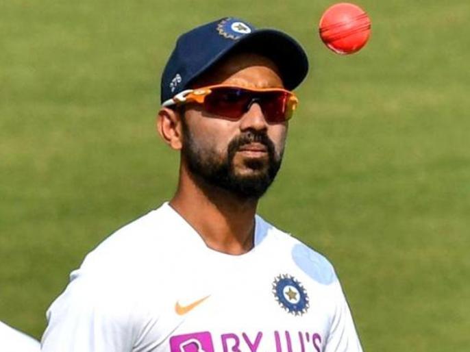 Ajinkya Rahane already dreaming about historic pink ball test, share funny picture of Twitter | अजिंक्य रहाणे को सपने में भी दिख रहा है पिंक बॉल, फैंस के साथ शेयर की मजेदार फोटो