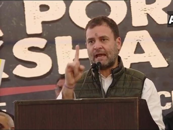 Rahul gandhi join chandrababu naidu protest in delhi Before UP Road show rally | यूपी रोड शो से पहले CM चंद्रबाबू नायडू के धरने पर राहुल गांधी का हमला, कहा- 'मोदी सरकार से भरोसा उठा'