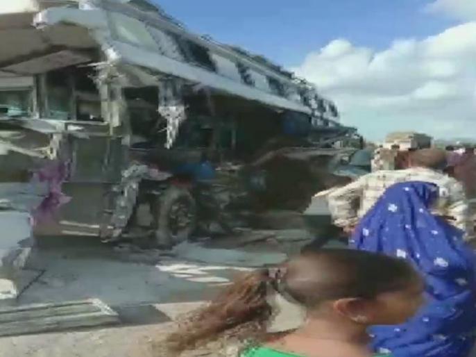 Rajasthan: 8 people died and 20 people injured after bus rammed into a truck in Ajmer | राजस्थान: ट्रक से भिड़ी बस, दर्दनाक हादसे में 8 लोगों की मौत, 20 घायल