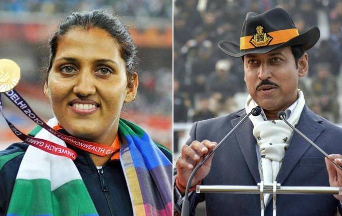 lok sabha election 2019 Congress Fields Krishna Poonia Against Rajyavardhan Rathore from Jaipur Rural. | राजनीति, खेल की तुलना में अलग, गेम परिणाम आपके हाथों में लेकिन पॉलिटिक्स नतीजे लोगों के हाथों मेंः कृष्णा पूनिया