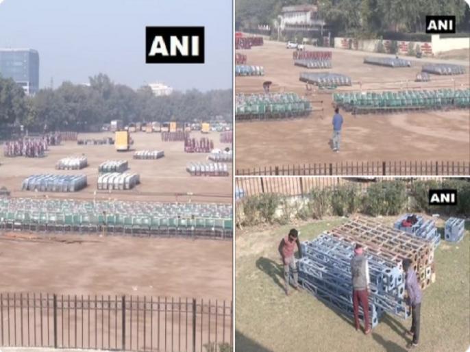 Arvind Kejriwal swearing in ceremony Ramlila Ground Preparations underway | केजरीवाल के शपथ ग्रहण समारोह की रामलीला मैदान में भव्य तैयारियां शुरू, जानें क्यों खास है AAP के प्रमुख के लिए मैदान