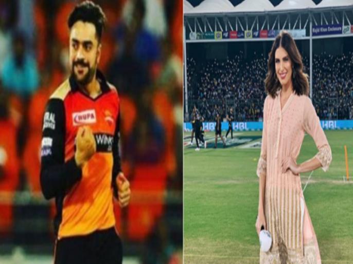 SRH vs KKR IPL 2021 Rashid Khan Ben Cutting wife engage in banter | IPL 2021: मैच से पहले केकेआर के खिलाड़ी की पत्नी से उलझे राशिद खान, सोशल मीडिया पर हुई बहस और फिर...
