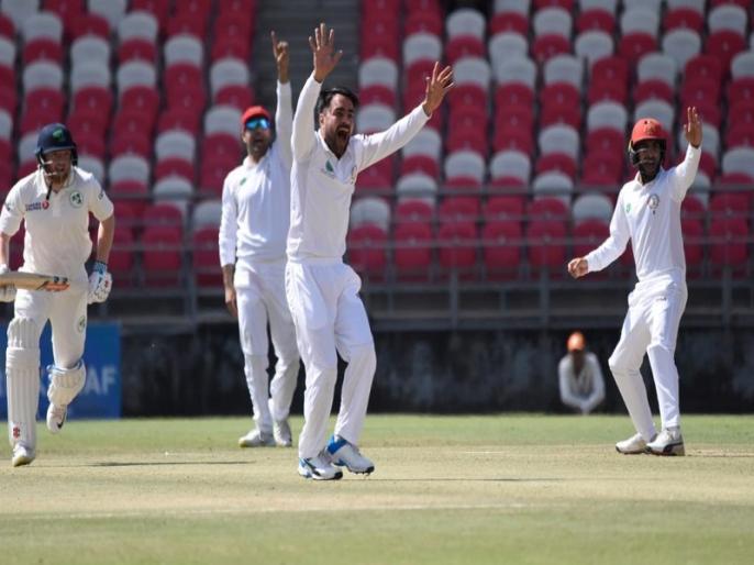 Rashid Khan takes five wickets vs Ireland, Afghanistan needs 147 to win maiden test | AFG vs IRE: राशिद खान ने आयरलैंड के खिलाफ झटके 5 विकेट, अफगानिस्तान अपनी पहली टेस्ट जीत के 'करीब'