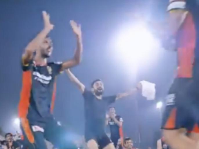 RCB Bowlers Wow Skipper Virat Kohli During Fun Bowling Challenge Watch here | VIDEO: IPL से पहले RCB के खिलाड़ियों का फॉर्म देख खुश हुए कप्तान कोहली, मैदान पर कुछ यूं मस्ती करते आए नजर