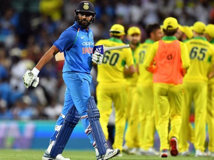 Ind vs Aus, 1st ODI: Australia beat India by 34 run to take 1-0 lead in ODI series   Ind vs Aus, 1st ODI: बेकार गई रोहित शर्मा की शतकीय पारी, ऑस्ट्रेलिया ने दर्ज की 1000वीं जीत