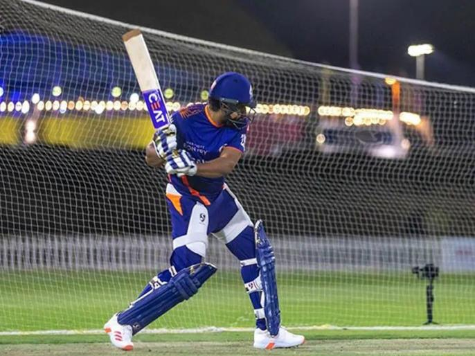 after indian team sqad announced Rohit Sharma Resumes Training In Nets for ipl 2020 | IPL 2020: रोहित शर्मा को नहीं मिली भारतीय टीम में जगह तो मुंबई इंडियंस ने शेयर की प्रैक्टिस की तस्वीर, फैंस के मन में उठ रहे कई तरह के सवाल