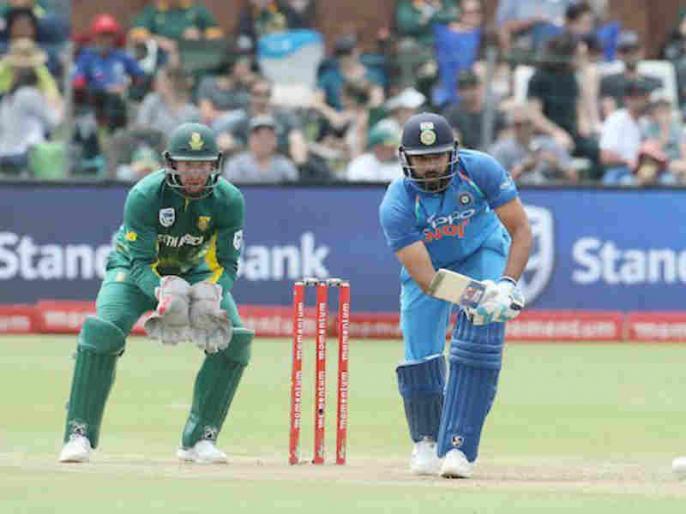 Rohit Sharma scores his maiden ODI half century in South Africa during 5th ODI | IndvSA: फॉर्म में लौटे रोहित शर्मा, दक्षिण अफ्रीका में पहली बार जमाई वनडे हाफ सेंचुरी