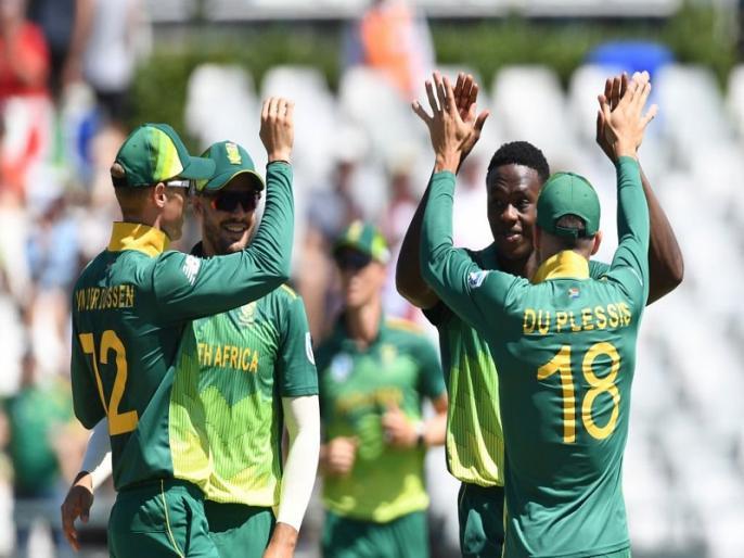 South Africa register 5-0 clean sweep against Sri Lanka with DLS method win in 5th odi after floodlight failure | SA vs SL: दक्षिण अफ्रीका ने श्रीलंका का किया 5-0 से क्लीन स्वीप, फ्लडलाइट 'फेल' होने के बाद जीता पांचवां वनडे