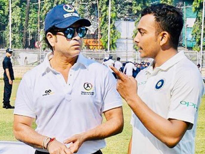 Prithvi Shaw training alongside Sachin Tendulkar Ahead Of Australia Tour: Reports | पृथ्वी शॉ की ऑस्ट्रेलिया दौरे के लिए 'खास' तैयारी, सचिन तेंदुलकर के साथ कर रहे हैं 'ट्रेनिंग'