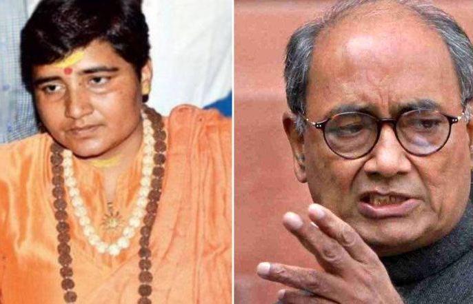 BJP released 4 new candidate list, Sadhvi Pragya Thakur will contest against Digvijay Singh from Bhopal | बीजेपी ने एमपी में घोषित किए चार नए प्रत्याशी, भोपाल से दिग्विजय सिंह का मुकाबला करेंगीं साध्वी प्रज्ञा ठाकुर