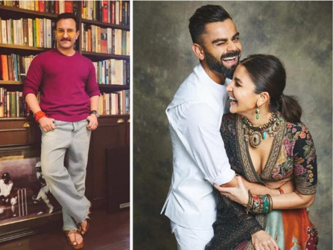 Saif Ali Khan feels Anushka Sharma and Virat Kohli is a nice balanced couple | सैफ अली खान ने विराट कोहली और अनुष्का शर्मा को बताया बेस्ट कपल, जानें क्यों नहीं लिया अपना और करीना का नाम