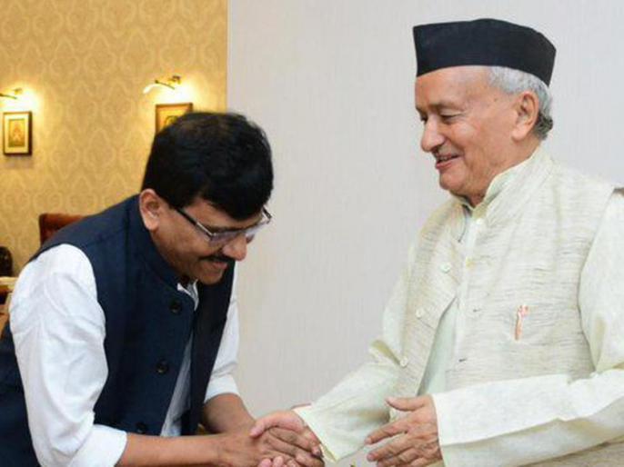 Shiv Sena Maharashtra Governor Bhagat Singh Koshyari and chief minister Uddhav Thackeray Relations between like father and son leader and the party's Rajya Sabha member Sanjay Raut says   महाराष्ट्र गवर्नरकोश्यारी से मिले शिवसेना नेता संजय राउत, कहा-राज्यपाल और मुख्यमंत्री के बीच पिता-पुत्र जैसे संबंध