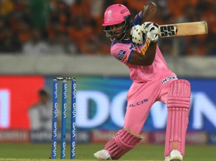 Image result for संजू सैमसन ने आईपीएल 2019 में पहला शतक