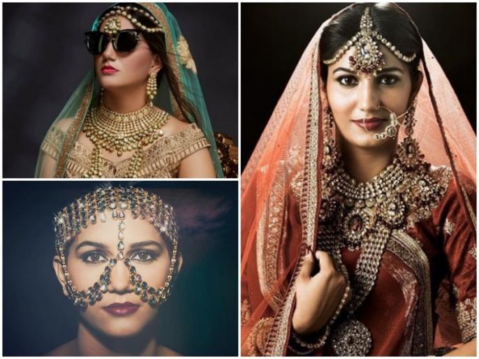 Sapna Choudhary Photo Shoot 2019 bridal look viral on social media | सपना चौधरी का दुल्हनियां अवतार देखा क्या? तस्वीरें देख हो जाएंगे फिदा