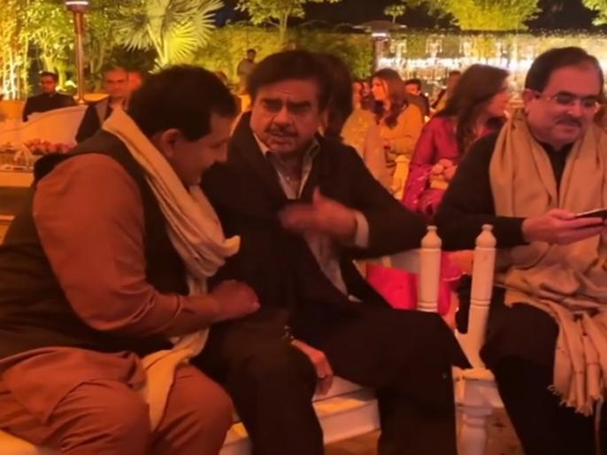 Shatrughan Sinha attends wedding in Pakistan at Lahore videos go viral | शादी अटेंड करने पाकिस्तान पहुंचे 'बिहारी बाबू' शत्रुघ्न सिन्हा, वीडियो देख लोगों ने दिए ऐसे रिएक्शन